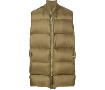 sleeveless flight necked coat