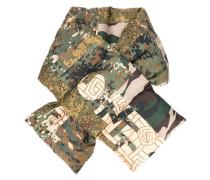 Gefütterter Seidenschal mit Camouflage-Print