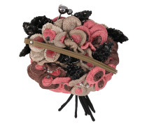 3D sequinned floral shoulder bag