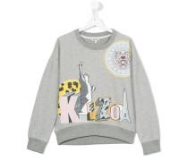 Sweatshirt mit Logo-Print - kids - Baumwolle