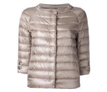 three-quarters sleeve puffer jacket