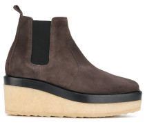 wedged chelsea boots
