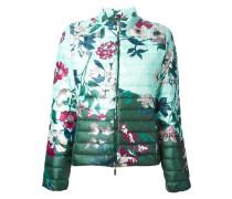 Gefütterte Jacke mit Blumen-Print