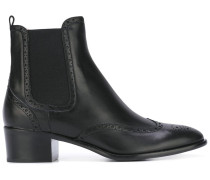 Chelsea-Boots mit Budapestermuster
