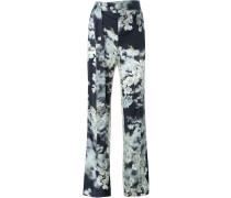 Klassische Hose mit floralem Print