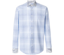 plaid and paisley print shirt