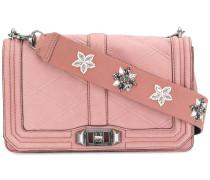 Love quilted handbag