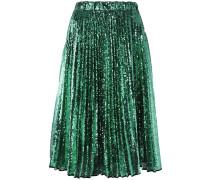 sequined pleated skirt - women