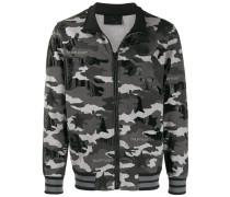 Sweatshirtjacke mit Camouflage-Print