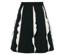 contrast frill panel mini skirt