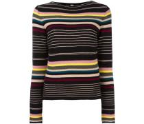 striped thin knit jumper