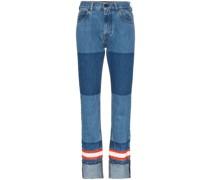 Gerade Jeans im Feuerwehr-Design