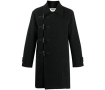 off-centre fastening duffle coat