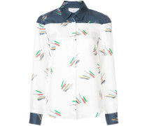 graphic contrast shirt
