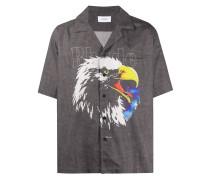Bowlinghemd mit Adler-Print