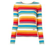 T-Shirt mit Regenbogenmuster