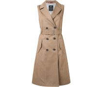 Ärmelloses Kleid im Trenchcoat-Stil