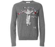 Intarsien-Pullover mit Hexenmuster