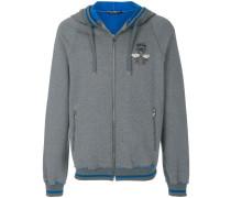 bee crest zipped hoodie
