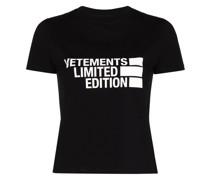 T-Shirt mit Limited Edition-Logo