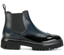 chunky sole combined boots