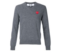 Sweatshirt mit Herzapplikation