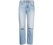 Gerade High-Rise-Jeans
