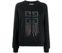 '4G' Sweatshirt mit Strassfransen
