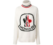 logo patch roll-neck sweater