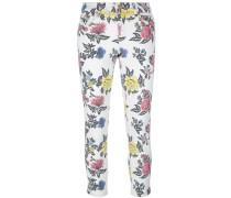 Skinny-Jeans mit Rosen-Print