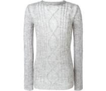 Pullover mit Aranmuster