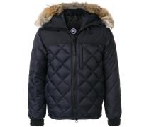 fur trim quilted jacket