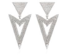 Dreieckige Kristall-Ohrringe