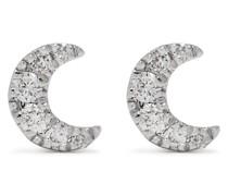 18kt Moon Weißgoldohrringe mit Diamanten