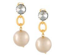 oversized drop clip-on earrings