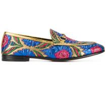 'Jordaan' Loafer mit floraler Jacquardmusterung