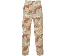 patterned cargo trousers