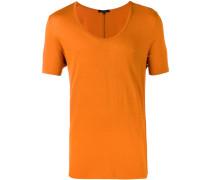 T-Shirt mit weitem Ausschnitt - men - Viskose