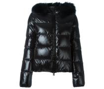 fur-trimmed down jacket