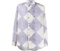 Doppelreihiges Hemd mit Print