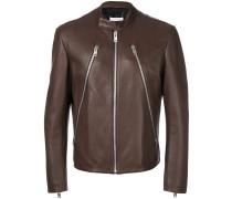 zip detail biker jacket