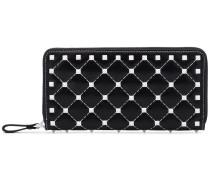Black leather Free Rockstud Spike long wallet