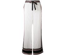 x Kate Moss Seidenhose mit Streifen
