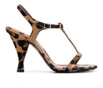 Sandalen mit Leoparden-Print, 105mm