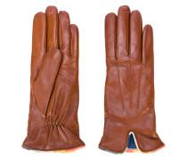 Handschuhe mit farbiger Borte