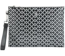 Greek Key patterned clutch bag