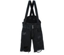 Distressed-Shorts mit Hosenträgern - women