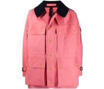 Leichte Jacke mit Kontrastkragen