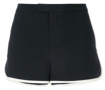 contrast-trim fitted shorts