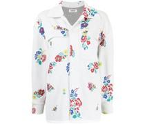 Jacquard-Hemd mit Blumenmuster